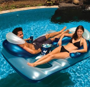 Poolmaster Polar Bar Double Lounger with Ice Bag