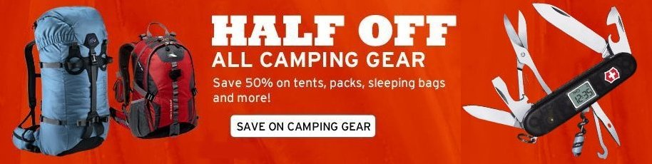 Save on Camping Gear