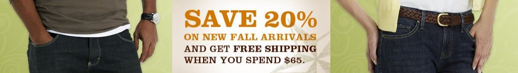 Save on Lee's New Fall Arrivals