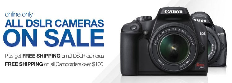 Sears DSLR Cameras offer