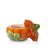 Small Figural Pumpkin candle