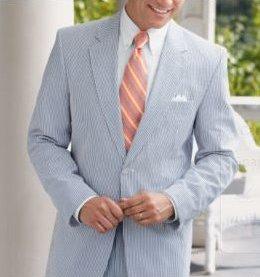 Stays Cool 2-Button Seersucker Suit