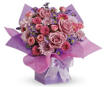 Teleflora's Perfectly Purple Present
