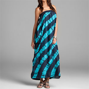 Sir Alistair Rai Geldof Tie Dye Silk Long Dress