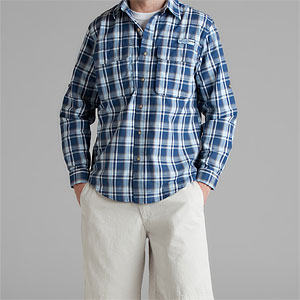 Timberland Perform Summer Navy Plaid Shirt