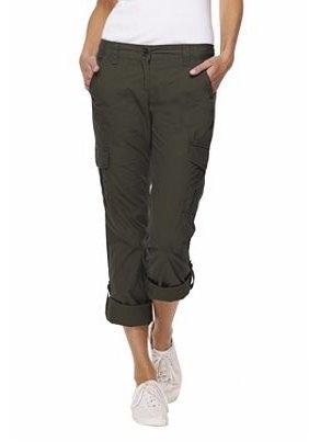 Women's Modern Sanded Poplin Roll Tab Cargo Pants