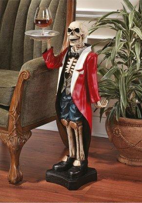 Bones the English Butler Pedestal Sculptural Table