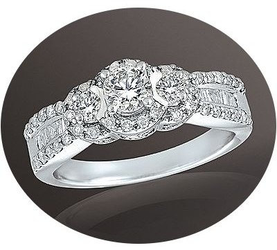 Everlasting Love 3-Stone Diamond Engagement Ring