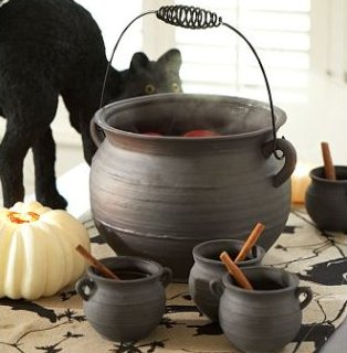 cauldron punch bowl - Pottery Barn Halloween Decor