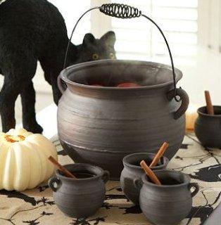 cauldron punch bowl - Pottery Barn Halloween Decor