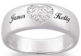 Heart Name Ring