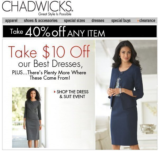 Shop Chadwicks Dress & Suit Event with Savings