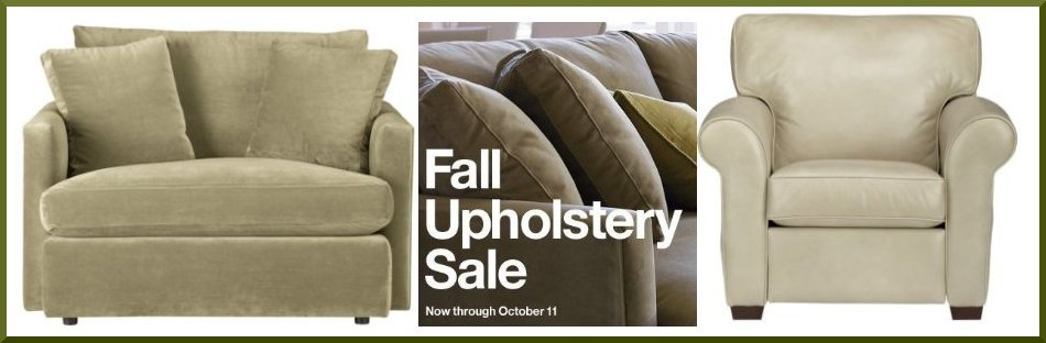 Crate and Barrel Fall Upholstery sale