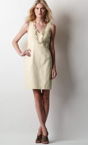 Foil Finish Sheath Dress