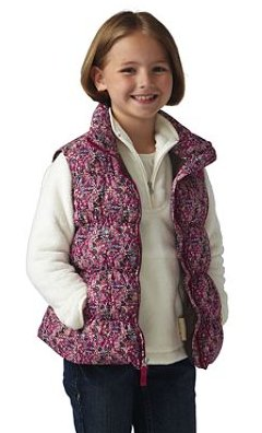 Girls' Pattern Down Vest