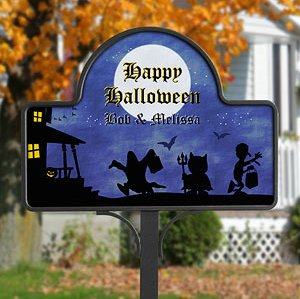 Happy Halloween Personalized Yard Stake