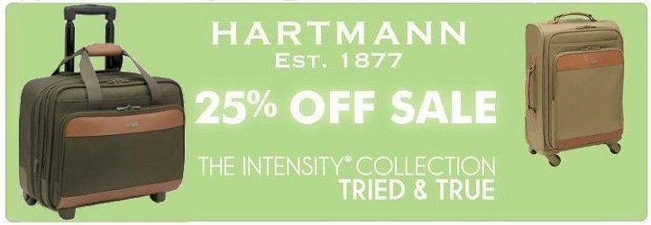 Hartmann Intensity sale at Luggage Pros