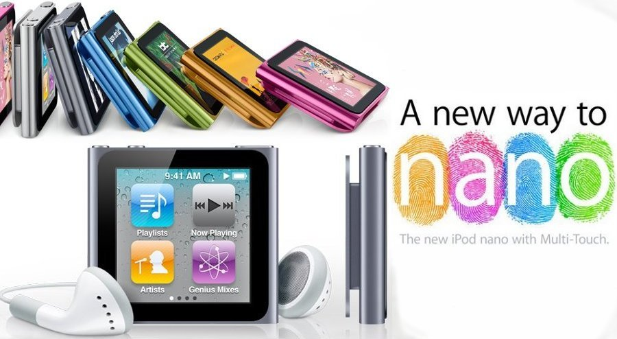 New 6th Generation iPod Nano with Multi-Touch