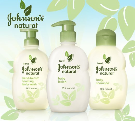 johnsons natural baby products