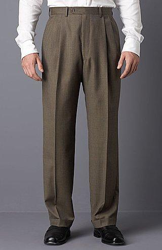 Lauren by Ralph Lauren Brown Tick Trousers
