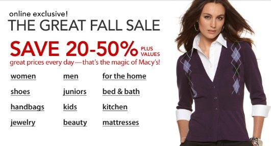 Macys Fall Sale