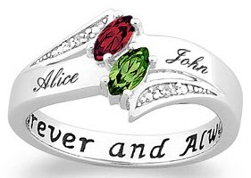 marquise birthstone name ring