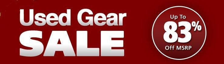 Musicians friend used gear sale