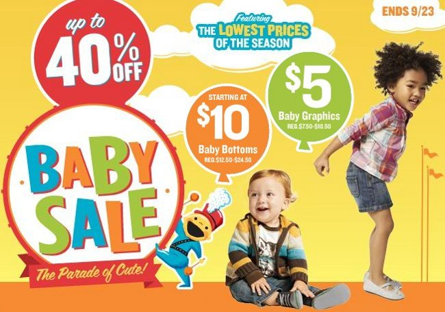 old navy baby and maternity sale