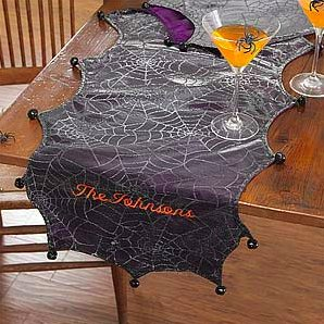 Personalized Spider Web Table Runner