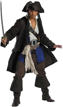 prestige captain jack sparrow costume