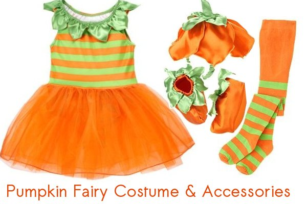 pumpkin fairy costume and accessories