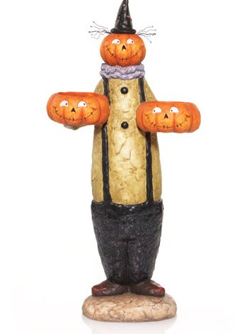 Pumpkin Pals Double Tall Tea Light Holder