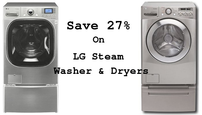 Save on LG Steam Washer and Dryers