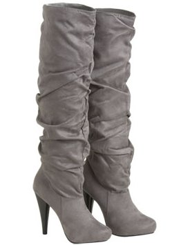 Slouchy Faux Suede Knee Boot