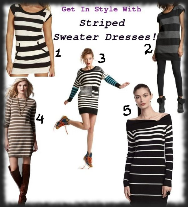 striped sweater dresses