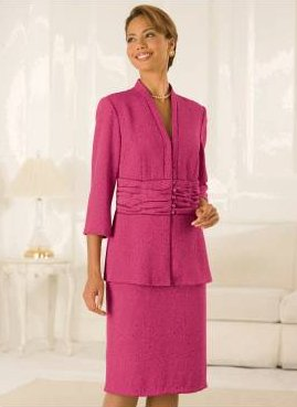 Vicki Wayne Jacquard-Patterned Suit