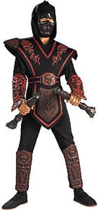 Red Skull Warrior Ninja Costume