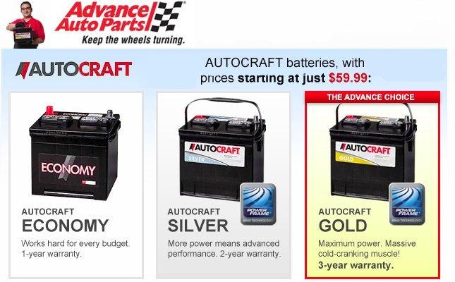 AUTOCRAFT Batteries