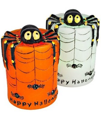 battery operated led halloween spider candle