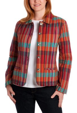 Bright Plaid Quilted Jacket