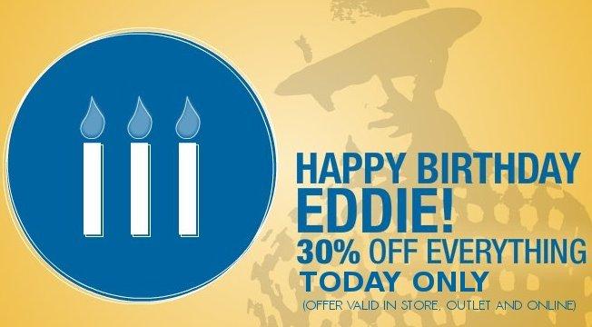 eddie bauer birthday event