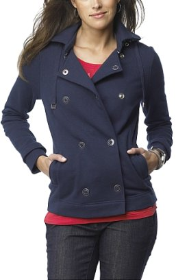 French Terry Peacoat Jacket