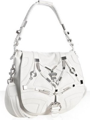 gucci white leather techno horsebit large shoulder bag