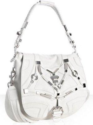 gucci white leather techno horsebit large shoulder bag