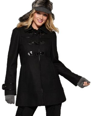 guess coat hooded toggle