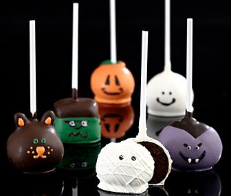 Hand-Decorated Halloween Brownie Pops