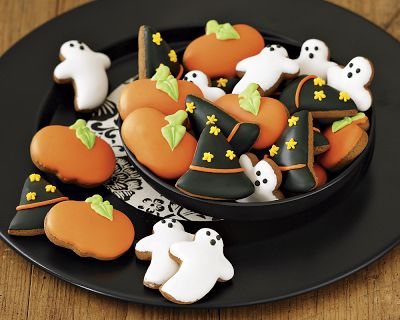 Mini Iced Halloween Cookies