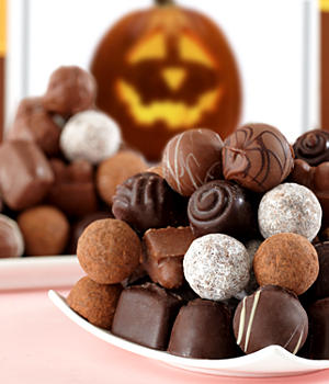 happy halloween sugar free truffles