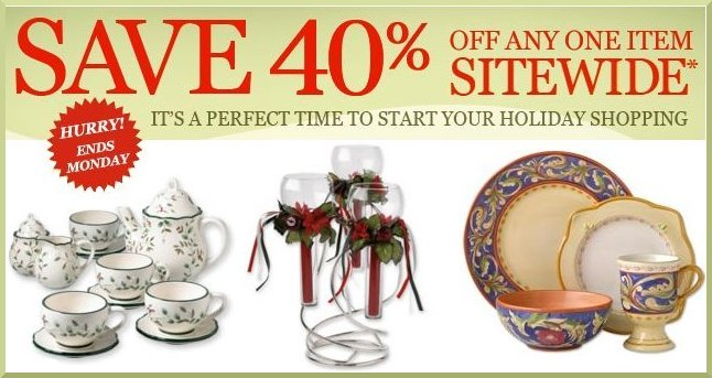 Holiday Shopping 40% Off