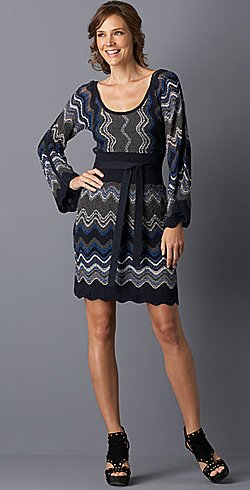 laundry by shelli segal bell-sleeve sweater dress